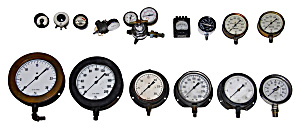 Vintage Gauge Collection Of Various Prices