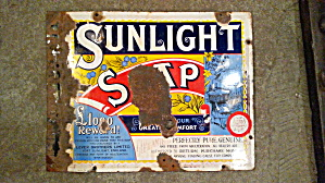 Old Sunlight Soap Sign
