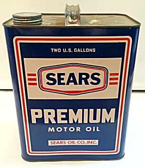 Old Sears Oil Can