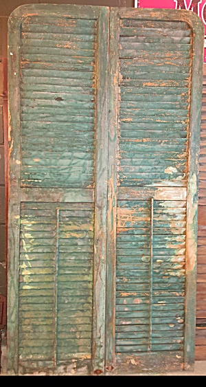 4 Sets Of Wooden Shutters In Frames