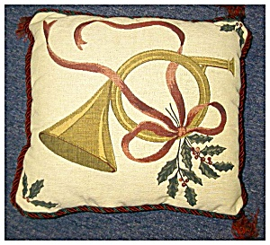 Christmas Pillow In Tapestry