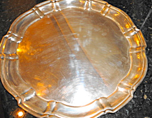 Silverplate Round Tray