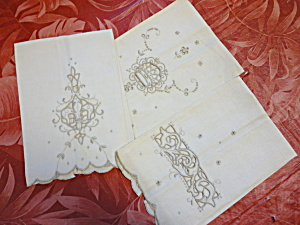 Linen Embroidered Hand Towels