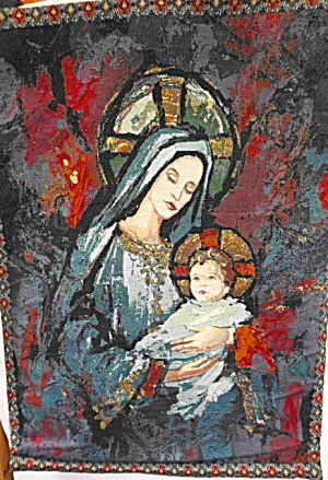 Tapestry Wall Hanging Madonna And Child