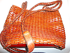 Talbot's Leather Woven Bag