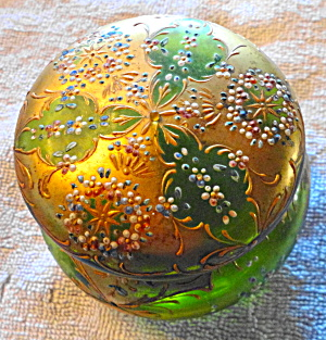 Moser Style Lidded Glass Box