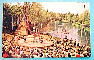 Frontierland Indian Village Postcard
