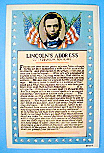 Lincoln Address Postcard