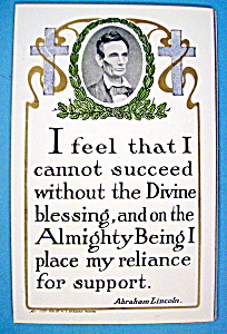 Abraham Lincoln Postcard (Lincoln Quote)