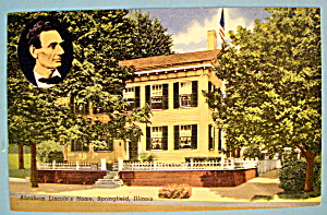 Abraham Lincoln's Home Postcard (Home In Springfield)