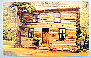 The Old Log Court House Postcard