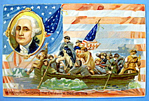 Washington In His Boat Crossing The Delaware Postcard