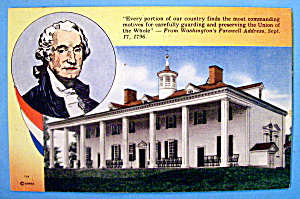 Washington's Farewell Address Postcard (Sept 17, 1796)