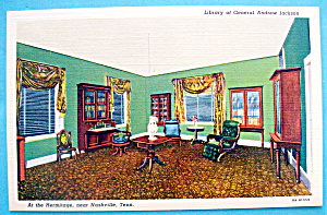 Library Of General Andrew Jackson Postcard