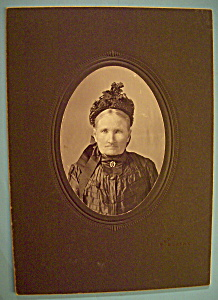 Mourning After - Cabinet Photo Of A Widow Taylor