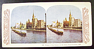 Palace Of The Nation, Paris Exposition 1900 Stereo Card