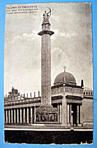 Column Of Progress-pan Pacific Exposition 1915 Postcard