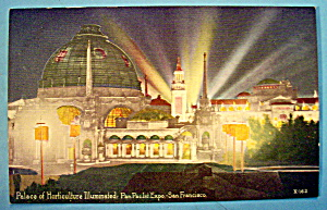 Palace Of Horticulture Illuminated Postcard