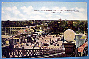 Postcard Of Riverview Park Shoot The Chutes, Chicago