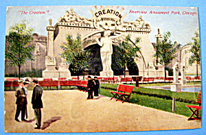 Postcard Of Riverview Park The Creation, Chicago