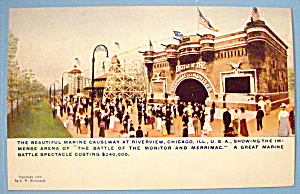 Postcard Of Riverview Park Marine Causeway, Chicago