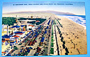 Postcard Of Amusement Zone, San Francisco, California