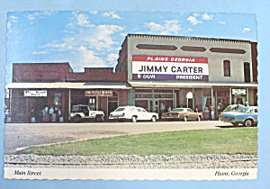 President Jimmy Carter Office Postcard