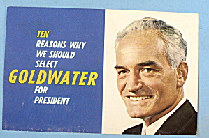 Barry Goldwater For President Postcard-ten Reasons Why