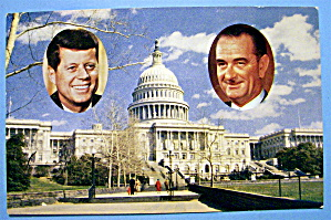 President Kennedy & Vice President Johnson Postcard