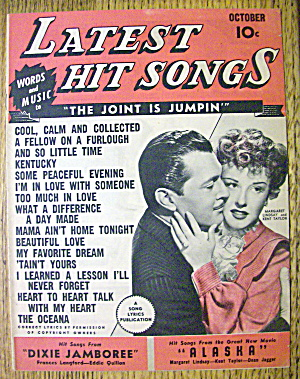 Latest Hit Songs October 1944 Lindsay & Taylor