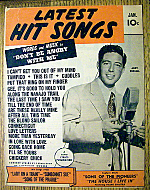 Latest Hit Songs January 1945 Andy Russell