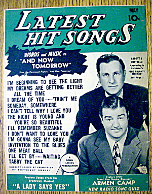 Latest Hit Songs May 1945 Abbott & Costello Cover