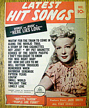 Latest Hit Songs December 1945 Betty Hutton Cover