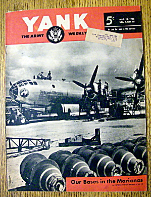 Yank Army Weekly Magazine August 24, 1945
