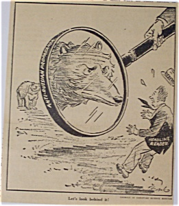 Political Cartoon - March 18, 1946 Anti-russian Prop