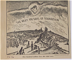Political Cartoon - May 6, 1946 Starvation