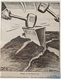 Political Cartoon - March 4, 1946 Inflation