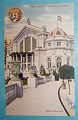 End Of The Agricultural Building Postcard (Yukon Expo)
