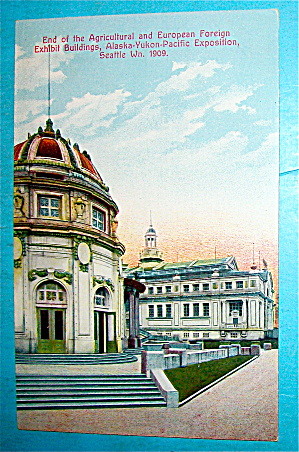 End Of The Agricultural European Foreign Bldg Postcard