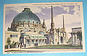 Palace Of Horticulture, South Elevation Postcard