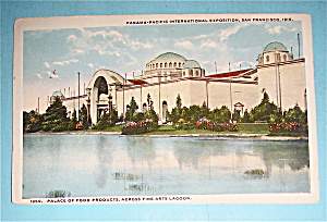 Palace Of Food Product, Across Fine Art Lagoon Postcard