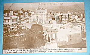 Over The Roof Tops Of Los Angeles Postcard-pan Pac Expo