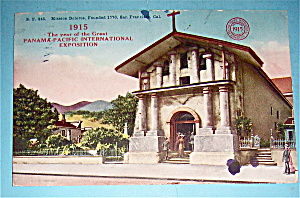 Mission Dolores Postcard (Panama Pacific Exposition)