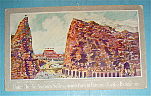Union Pacific System-yellowstone Park Postcard