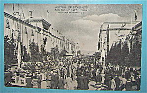 Avenue Of Progress Postcard (Panama Pacific Expo)
