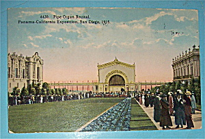 Pipe Organ Recital Postcard