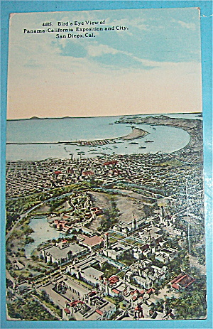 Bird's Eye View Of Panama Calif Exposition Postcard