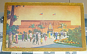 1935 California Pacific Expo Postcard-federal Building
