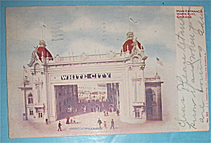 Main Entrance To White City, Chicago Postcard