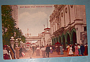 West Board Walk In White City, Chicago Postcard